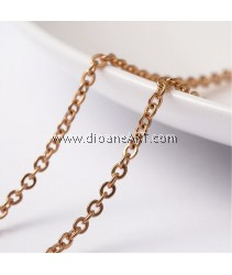 Cross Chains, 304 Stainless Steel, Golden, 2.5x2x0.5mm, 1 meter