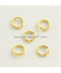 Jumprings, 304 Stainless Steel Close but Unsoldered, Golden, 6x0.8mm, 20 pcs/pack