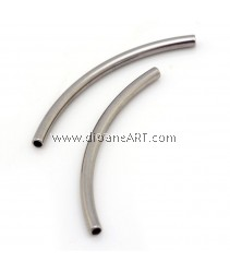 Tube Bead, 304 Stainless Steel, Stainless Steel Color, 30x2mm, Hole: 1mm, 4 pcs/pack