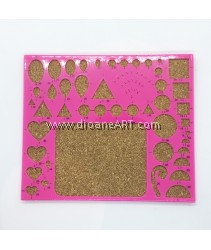 Paper Quilling Stencil with Cork Board
