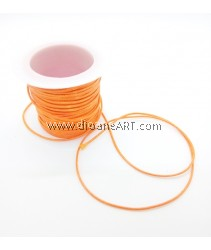 Waxed Polyester Cord, Orange Color, 1mm, about 10m/roll, 1roll/pack