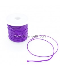 Waxed Polyester Cord, Purple Color, 1mm, about 10m/roll, 1roll/pack