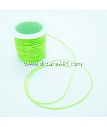 Waxed Polyester Cord, Light Green Color, 1mm, about 10m/roll, 1roll/pack