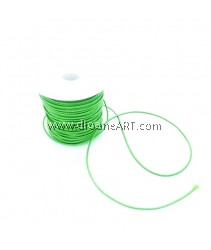 Waxed Polyester Cord, Dark Green Color, 1mm, about 10m/roll, 1roll/pack