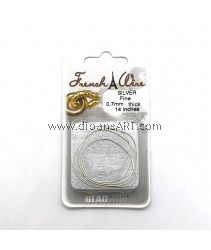 FRENCH WIRE SILVER COLOR FINE (.7MM)- 14IN